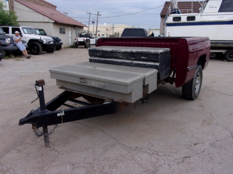 HOME MADE TRUCK BED TRAILER CUSTOM 1999 price $999