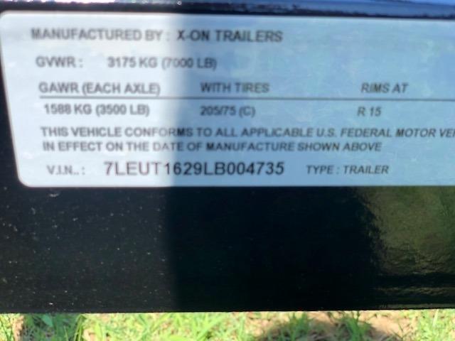 X-ON 16X83 UTILITY TRAILER 2020 price $3,095