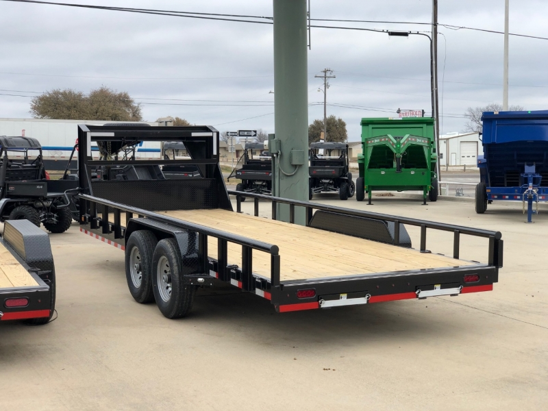 Delco Trailers 20X83 CARHAULER GOOSENECK PIPE-TOP 7K AXLES 2021 price $5,995