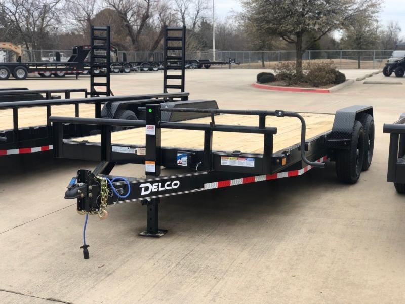 Delco Trailers 18X83 CARHAULER-FLAT DECK 7K AXLES 2021 price $4,695