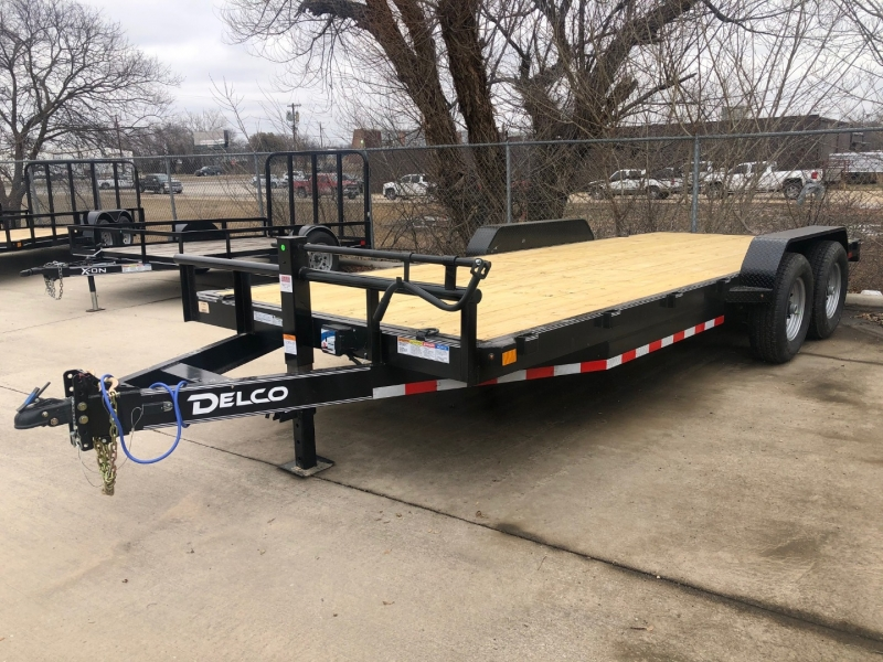 Delco Trailers 20X83 CARHAULER FLAT DECK BP-SLIDE IN RAMPS 2021 price $4,695