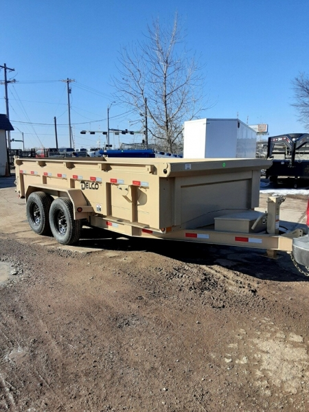 Delco Trailers 14X83 DUMP TRAILER BP 2FT SIDES 2021 price $9,495