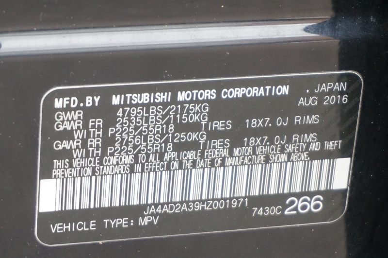 Mitsubishi Outlander 2017 price $12,995