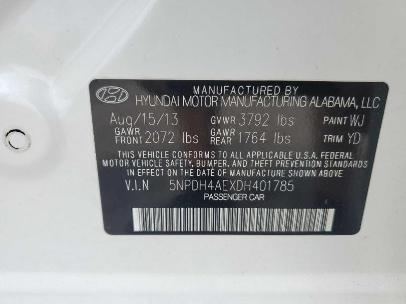 HYUNDAI ELANTRA 2013 price $9,794