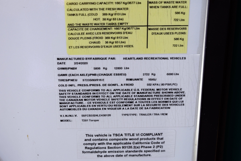 Heartland Torque Extreme T281 33' 2020 price $42,900