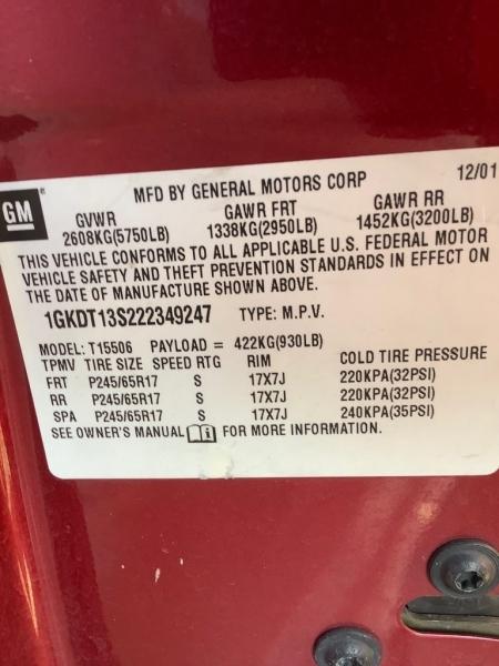 GMC Envoy 2002 price $1,373
