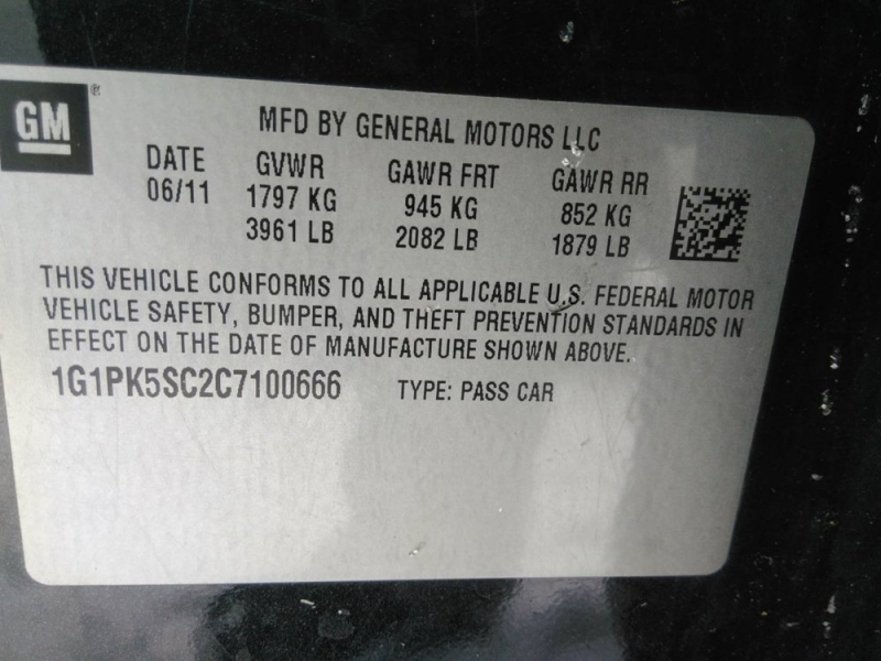 Chevrolet Cruze 2012 price $2,623