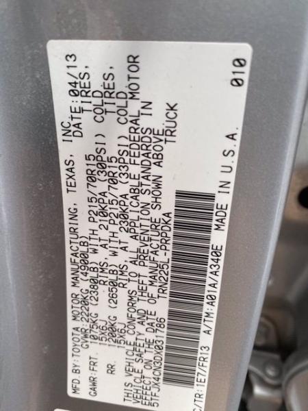 Toyota Tacoma 2013 price $20,984