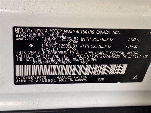 Toyota RAV4 2019 price $22,582