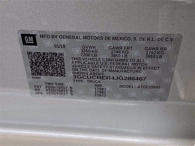 Chevrolet Silverado 1500 2018 price $33,481