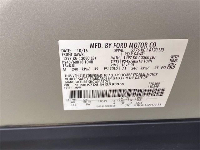 Ford Explorer 2017 price $25,981