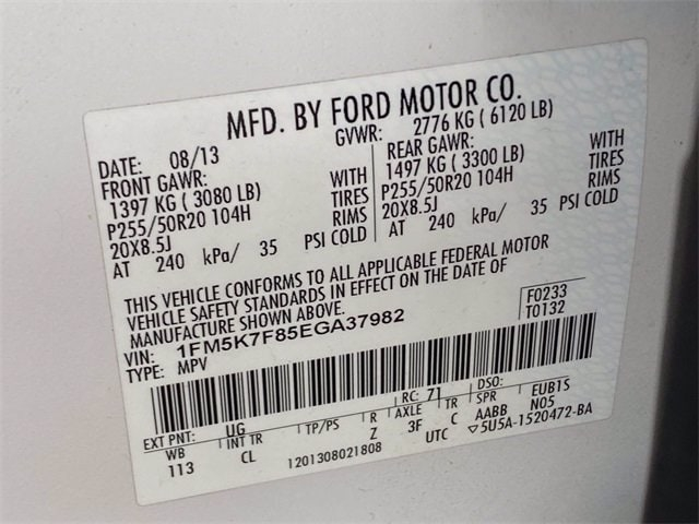 Ford Explorer 2014 price $16,486
