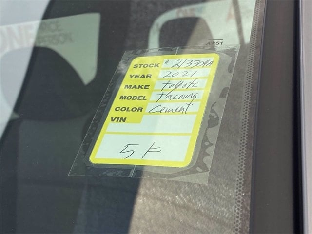 Toyota Tacoma 2021 price $43,981