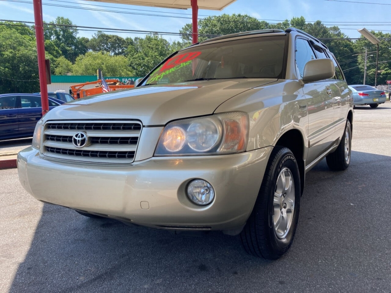 Toyota Highlander 2003 price Call for Pricing.