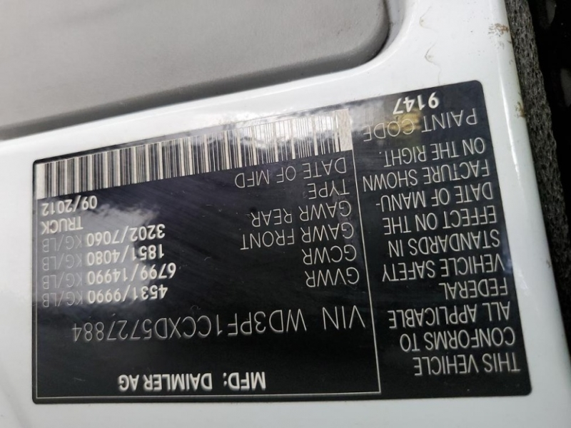 Mercedes-Benz Sprinter Cargo Vans 2013 price $19,500