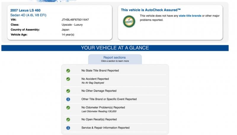 Lexus LS 460 2007 price $11,990