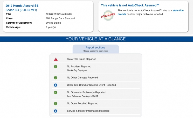 Honda Accord Sdn 2012 price $6,990