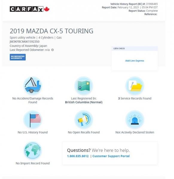 Mazda CX-5 2019 price $30,965