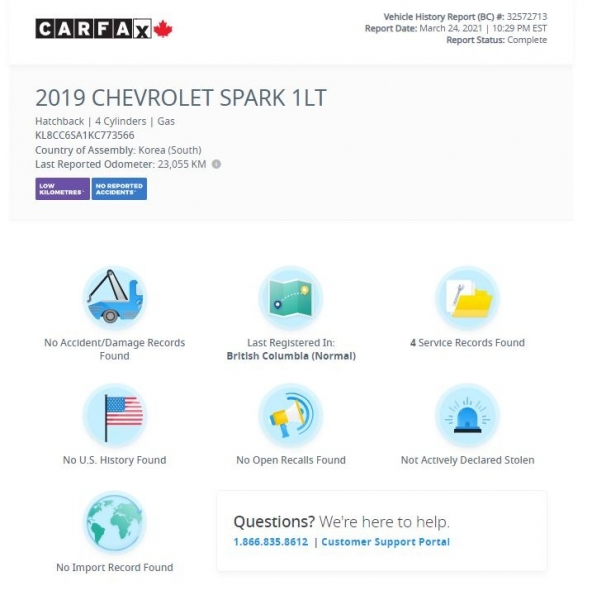 Chevrolet Spark 2019 price $12,968