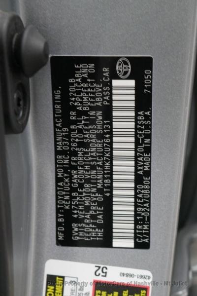 Toyota Camry 2019 price $19,399