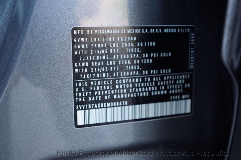 Volkswagen Tiguan 2019 price $20,998