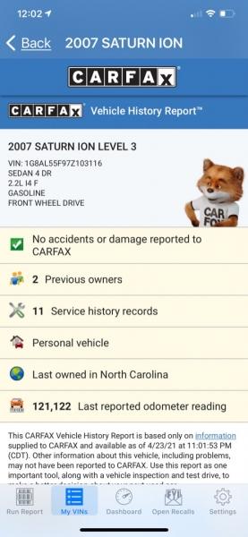 Saturn Ion 2007 price $4,800