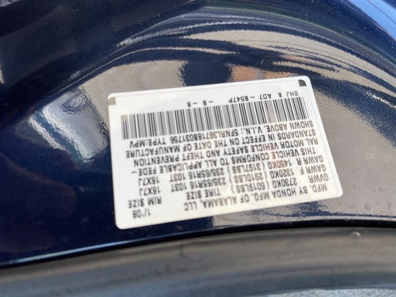 HONDA ODYSSEY 2008 price $6,387