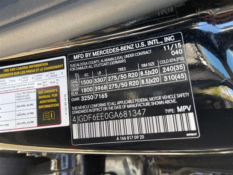MERCEDES-BENZ GL450 2016 price $36,995