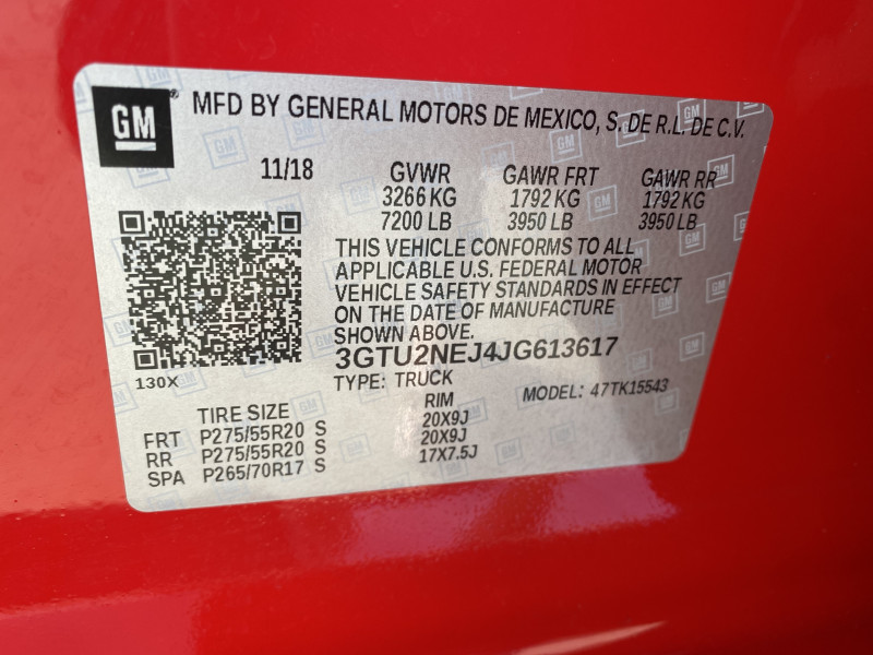 GMC Sierra 1500 2018 price $46,800