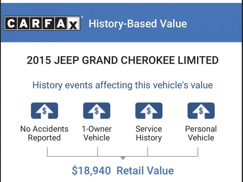 Jeep Grand Cherokee 2015 price $17,691