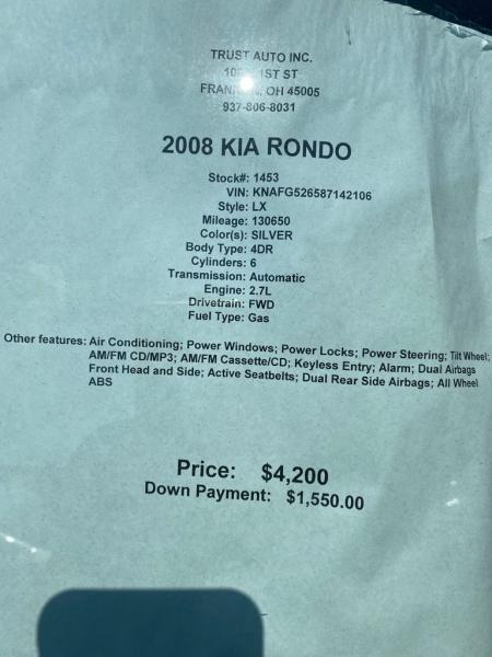 KIA RONDO 2008 price $4,200