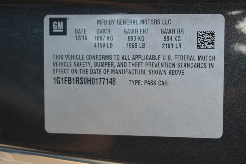 Chevrolet Camaro 2017 price $20,995