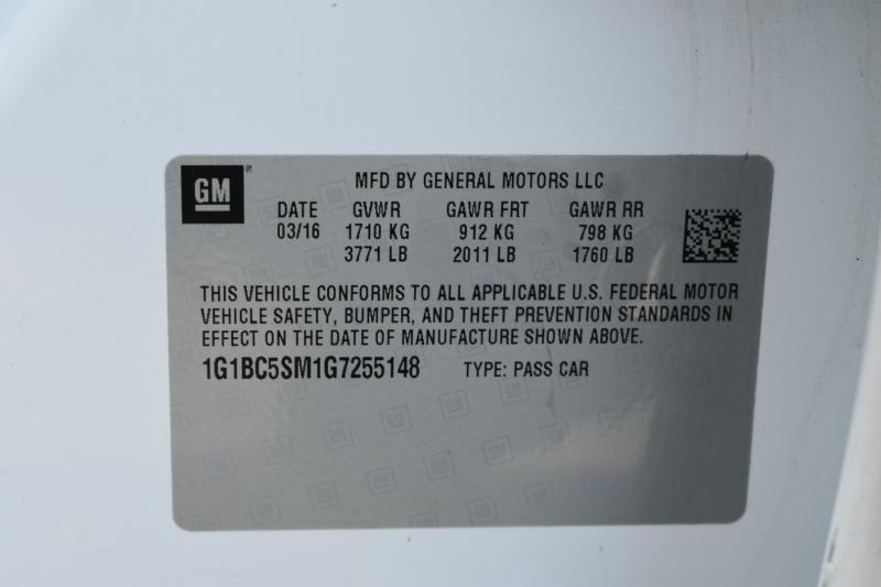 Chevrolet Cruze 2016 price $11,995