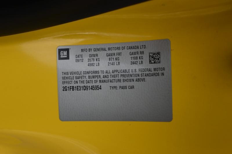 Chevrolet Camaro 2013 price $20,995