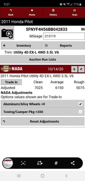 HONDA PILOT 2011 price $6,900