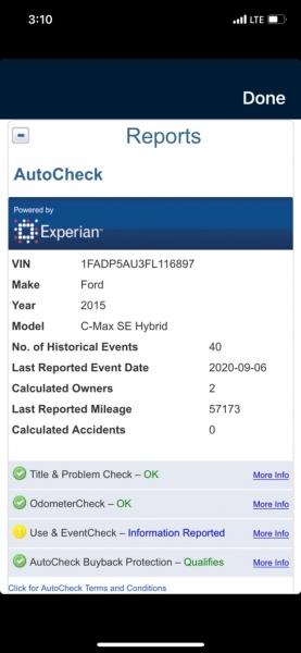 FORD C-MAX 2015 price $7,200