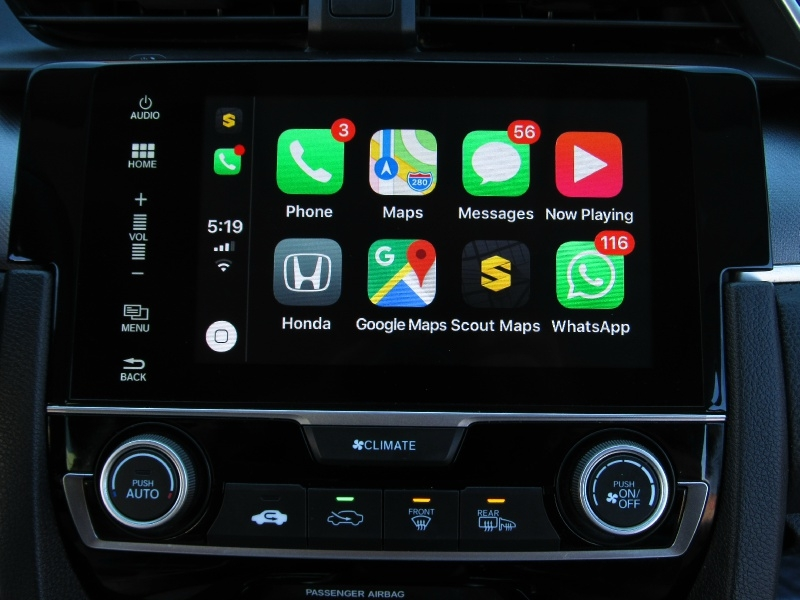 Honda Civic EX Apple,Android Car-Play 2016 price $15,995