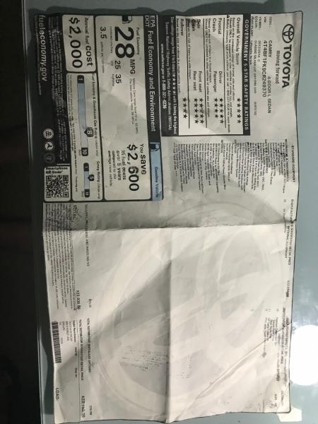 Toyota Camry 2012 price $8,000