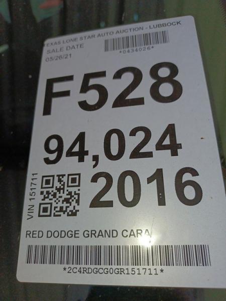 DODGE GRAND CARAVAN 2016 price $13,900