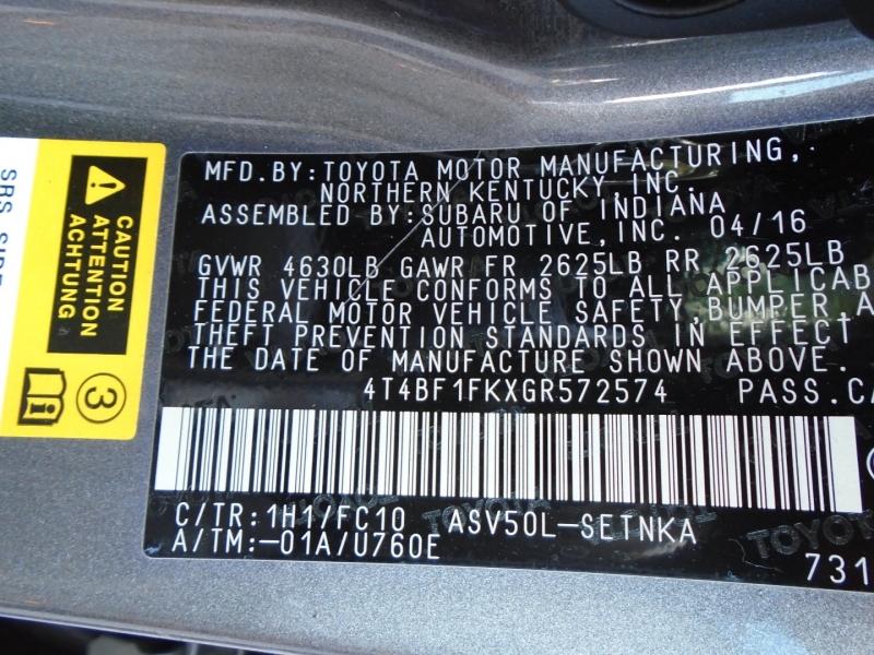 Toyota Camry 2016 price $14,495