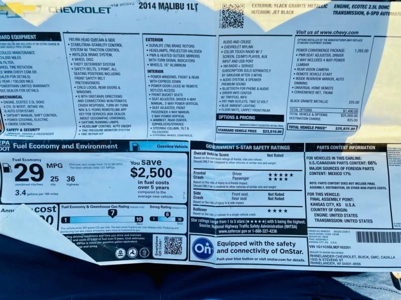 CHEVROLET MALIBU 2014 price $7,475