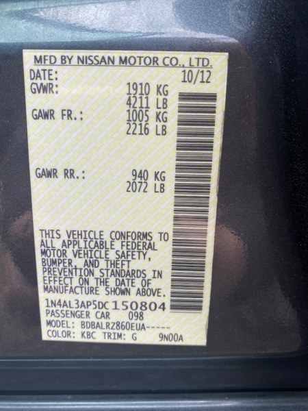 Nissan ALTIMA 2013 price 4950