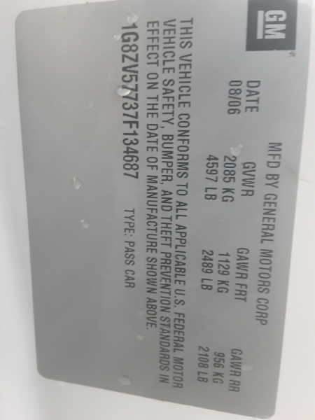 Saturn Aura 2007 price $4,550