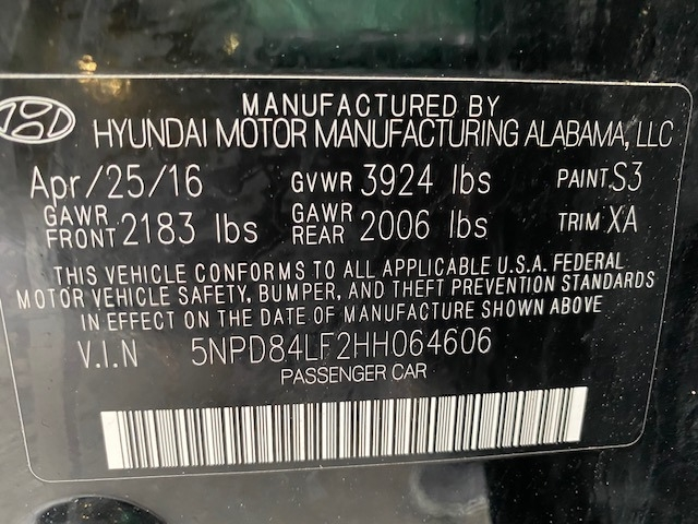 Hyundai Elantra 2017 price $10,699