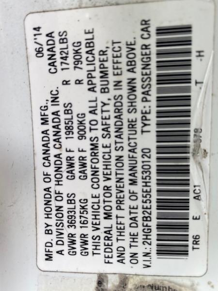 Honda Civic Sedan 2014 price $10,399