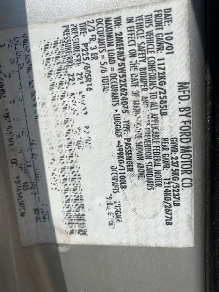 Mercury Grand Marquis 2002 price $4,799