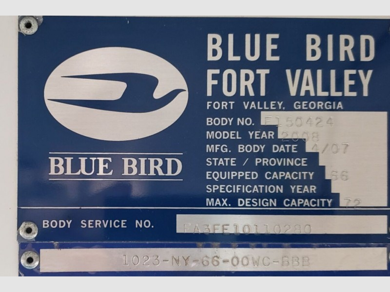 Blue Bird All American / All Canadian 2008 price $12,995