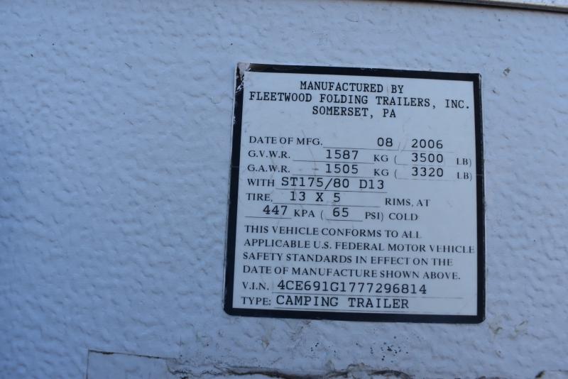 Fleetwood SUN VALLEY 2007 price $3,499