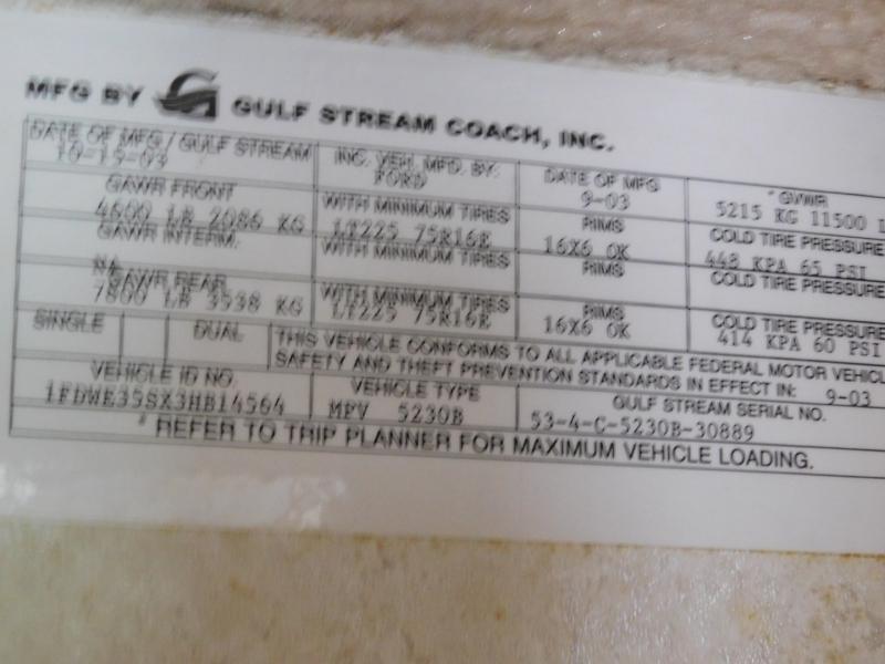 Gulf Stream BT Cruiser 2003 price $26,900