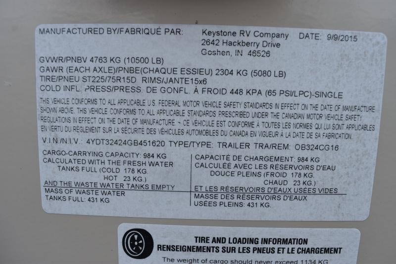 Keystone OUTBACK SUPER LITE 2016 price $28,900